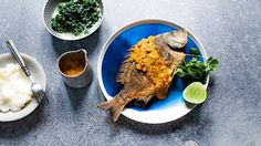African spiced fish with pap and silverbeet recipe | Fish recipes | SBS Food