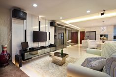 You are going to collect your keys soon but have no idea how to design your home? This article will show you 10 living room designs that will help in your home renovation. The Minimalist Look The minimalist trend is increasingly being adopted by. Interior Design Singapore, Home Interior Design, Hall Design, Minimalist Home Interior, Beautiful Living Rooms, Design Your Home, Home Renovation, Luxury Furniture, Living Room Designs