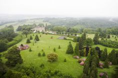 Ariel view of the Hedsor House and the Estate