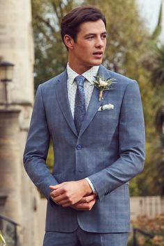 Comprising fitted jackets, single-breasted blazers and tailored separates to get you looking dapper in a flash. Designer Suits For Men, Looking Dapper, Wool Suit, Tie The Knots, Davids Bridal, Bridal Boutique, Suits You, Well Dressed, Ted Baker