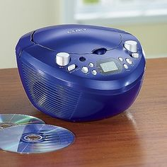 Coby Portable CD Player - Blue in Holiday 2012 from Ginnys on shop.CatalogSpree.com, my personal digital mall.