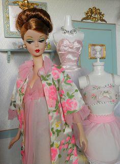 Ravishing in Rouge in Vintage Barbie Lingerie