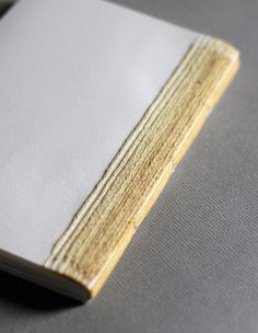Blank Softcover Book with Stitched Yellow Chevrons