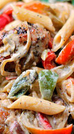 Chicken Peppers in White Sauce