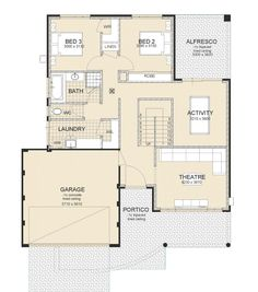 The Swanbourne two storey 4 bedroom home by Great living Homes. Its a balance between modern design & innovation. We deliver quality homes in Mandurah & Perth House Layout Design, House Layouts, Modern House Design, Best House Plans, Modern House Plans, Double Storey House Plans, House Plans Australia, Upside Down House, Villa Plan