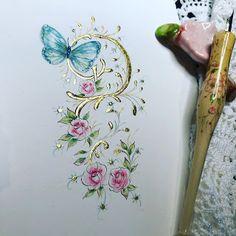 Ink Flourishes: 2020 Watercolor Painting Techniques, Watercolor Paintings, Watercolour, Script Lettering, Calligraphy, Sending Hugs, Art Impressions, Calendar Pages, Penmanship