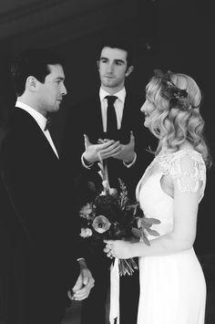 Black & Gold NYE Wedding: ceremony details.