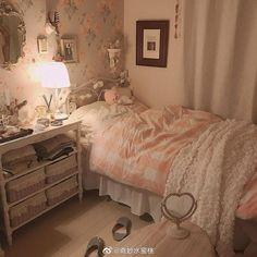 Cute Bedroom Ideas, Room Ideas Bedroom, Bedroom Decor, Pastel Room, Kawaii Room, Pretty Room, Aesthetic Room Decor, Cozy Room, Bedroom Vintage