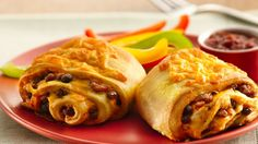 Make delicious burritos a whole new way, rolled in flaky Crescents. It's a quick and easy dinner.