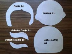 Boneca Caroline em Feltro com Molde e Passo a Passo - Como Faço Craft Patterns, Projects To Try, Diy Crafts, Cookie Cutters, Color, Doll Hair, Fabric Dolls, Doll Crafts, Handmade Crafts