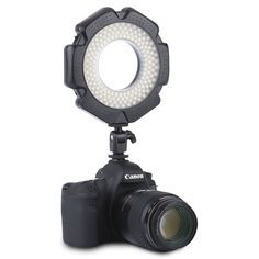 Excelvan R-160S Macro Ring LED Light 5600K Camera Camcorder Video Lamp with 6 Adapter Rings 49/52/55/58/62/67MM for Nikon Canon DSLR