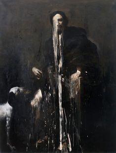 Dark Paintings, Beautiful Paintings, Vanitas, Art Visionnaire, Renaissance Kunst, Arte Horror, Portraits, Italian Artist, Visionary Art