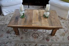 Reclaimed Barn Wood Coffee Table by DohlerDesigns on Etsy, $395.00
