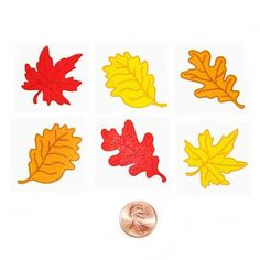Carnival Savers - Glitter Leaf Temporary Tattoos (144 total pieces in 2 bags) 5¢ each, $7.50 (http://www.carnivalsavers.com/glitter-leaf-temporary-tattoos/)