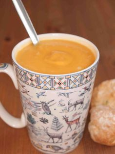 Simple Sweet Potato Soup: Serves: 3 Time: 45 mins Recipe from Lesley Waters on ITV's This Morning 25g (1oz, 1/8 cup) butter, cubed 1 medium onion, chopped 2 teaspoons ground coriande…