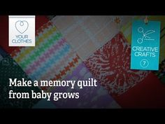 Knitting Patterns Onesie Creative crafts: make a memory quilt from babygrows Baby Quilt Patterns, Knitting Patterns, Diy Baby Clothes Quilt, Quilting Rulers, Baby Quilts, Memory Quilts, Baby Grows, Baby Crafts, Knit Patterns