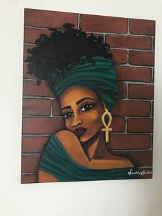 Black Art Black Paintings Black Woman  Natural Hair Art