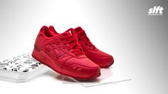 """Der Gel-Lyte III """"Red"""" aus dem ''Monochrome''-Pack von asics, ab sofort inStore und onLine auf www.soulfoot.de erhältlich!  €120  Sizerun: EU 40,5 - 45  #asics #gellyte #gl3 #monochrome #allred #sneaker #soulfoot #slft"""