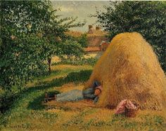 oilpaintinggallery: The Siesta, Camille Pissarro - museum quality oil painting reproductions