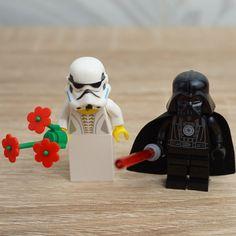 Darth Vader Lego and StormTrooper Lego, Star Wars cake toppers, Lego wedding cake topper, Lego Wedding, Wedding Lego, Lego minifigures