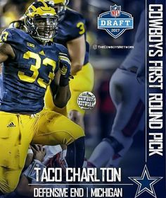 Round 1 Pick 28 DE Taco Charlton Welcome to the Dallas Cowboys✭ bb866ef2b