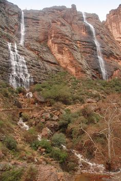 Waterfalls in Fish Creek Canyon, Apache Trail, Arizona.