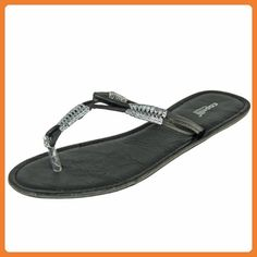 Capelli New York Zehen-Strandsandalen 'Black Beach', farbe:brown combo, Groesse:36/37