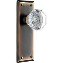 Putman Octagonal Crystal Knob Interior Door Set