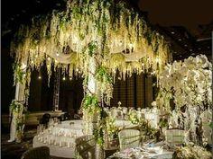 Set of 12 Artifical Wisteria String Wedding Decor Hanging Silk Flower String NEW