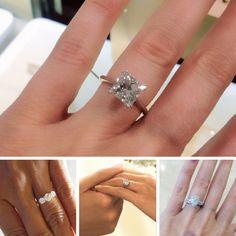 Princess Cut diamond solitaire engagement ring.  #diamond #engagement #ring #love #marryme #style #diamonds #diamondsinternational #shimmer