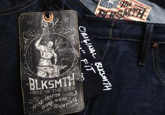 BLKSMTH is an amazing denim company owned and operated by denim legend himself, Loren Cronk. I was lucky enough to work with him on the identity and direction for this new line that is all sourced and made right here in the United States.