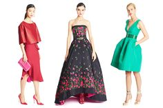 Fashion Show: Нарядные платья из коллекции Oscar de la Renta Pre-Fall 2015 Runway Couture Mode, Couture Fashion, Runway Fashion, Fashion Show, Fashion Design, Moda Floral, Glamour, Vestidos Oscar, Strapless Dress Formal
