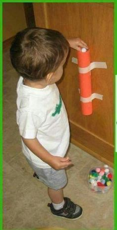 at the kitchen door so you can cook in peace :) Baby Gym, Baby Play, Indoor Activities, Toddler Activities, Busy Boxes, Kids Zone, Sensory Play, Raising Kids, Childcare