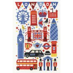 Dmc London Attractions Cross Stitch Kit 17.8 X 27.9 Cm | Hobbycraft
