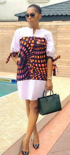 Short African Dresses, Latest African Fashion Dresses, African Print Fashion, Africa Fashion, African Dress Designs, Dress Shirts For Women, African Attire, Colorful Fashion, Classy Outfits