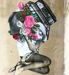 #flowers & #legs by @annelauremaison #annelauremaison #femmemaison  #streetart #graffiti #graff #spray #bombing #wall #instagraff #streetartist #urbanart #urbanartist  #streetartparis #parisgraffiti #graffitiwall #wallporn #wallpornart #streetarteverywhere #streetphoto #streetartandgraffiti #urbanwalls #graffart  Rue Amelot #paris