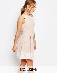 Buy Closet Lace Detail Skater Dress at ASOS. With free delivery and return options (Ts&Cs apply), online shopping has never been so easy. Get the latest trends with ASOS now. White Skater Dresses, Skater Style Dress, Fit N Flare Dress, Lace Kimono, Lace Dress, White Cut Out Dress, Summer Dresses For Women, Holiday Dresses, Pretty Dresses