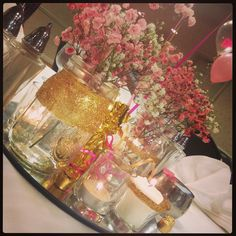 Glitter Bridal Shower Centerpiece