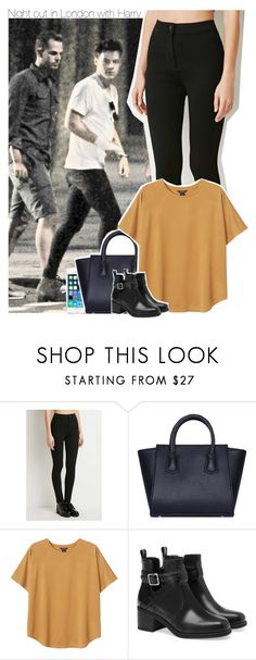 """""""Night out in London with Harry"""" by perfectharry ❤ liked on Polyvore featuring Forever 21, FingerPrint Jewellry, Monki and Pull&Bear"""