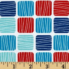 Don't Be Crabby Blocks Nautical from @fabricdotcom  Designed by Laurie Wisbrun for Kaufman Fabrics, this cotton print fabric is perfect for quilting, apparel and home décor accents. Colors include shades of blue and red on a white background.