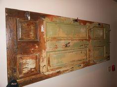 Repurpose and old door for a coat rack!