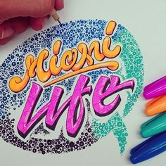 WEBSTA @ el_juantastico - Is a beautiful life... #miamilife #miami #art #ilovemiami #ilovetype #type #typespire #thedailytype #typedaily #goodtype #goodart #calligritype #inspiration #lettering #tipografia #sharpie #color #marker #design #graphicart