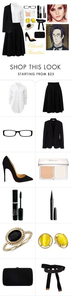 """Claude Faustus"" by charbear231 ❤ liked on Polyvore featuring rag & bone, Brunello Cucinelli, Chico's, Maesta, Christian Louboutin, Christian Dior, Marc Jacobs, Blue Nile, Kate Spade and Sergio Rossi"