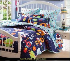 robots bedding-outer space theme bedroom decorating ideas