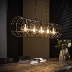 Industrial Ceiling Light Valley - Available at Furnwise! Industrial Floor Lamps, Industrial Ceiling Lights, Tourbillon, Pipe Lighting, Lighting Showroom, Dining Room Lighting, Led Lampe, Ceiling Beams, Decoration