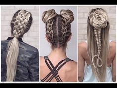 The Most Beautiful Hairstyles Tutorials November 2016 Dance Hairstyles, Weave Hairstyles, Pretty Hairstyles, Easy Winter Hairstyles, Middle Hair, Viking Hair, Medium Long Hair, Natural Hair Styles, Long Hair Styles