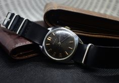 Vintage Soviet watches Raketa 1975 year with leather band Ruby Jewel, Vintage Watches, Seiko, Dandy, Luxury Watches, Rolex, At Least, Geek Stuff, Jewels