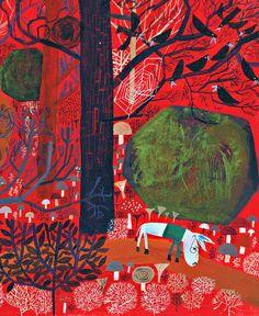 illustration | from the book 'hipinäaasi apinahiisi' (wheezy donkey and wonky monkey), illustrated by matti pikkujämsä and written by ville hytönen