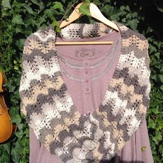 """Snood femme, double tour tricoté main collection """"les quatre saisons"""", hiver... Par la maille aux trésors"""