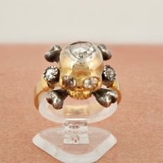 Spectacular Victorian old diamond memento mori skull ring by hawkantiques on Etsy https://www.etsy.com/listing/252134570/spectacular-victorian-old-diamond
